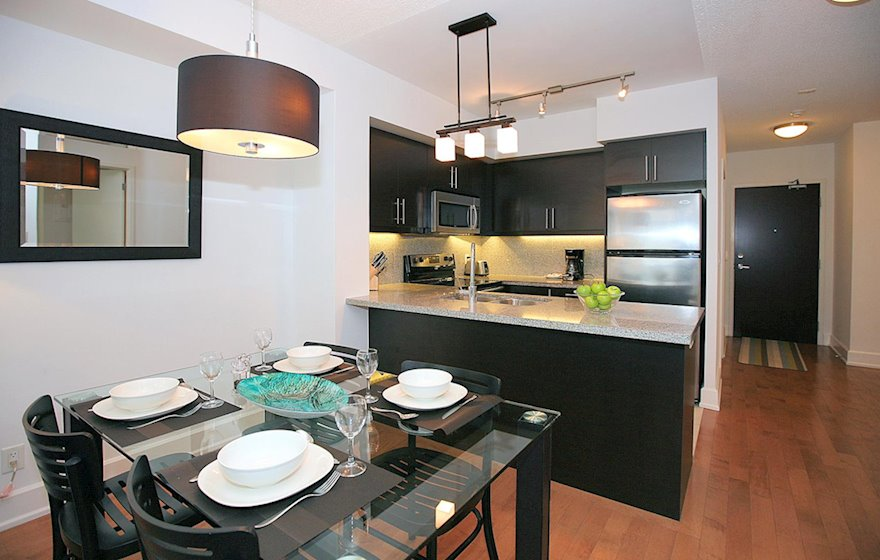 Dining Room Fully Furnished Apartment Suite North York