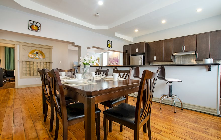 Kitchen Five Appliances Fully Furnished Apartment Suite St. John's NL