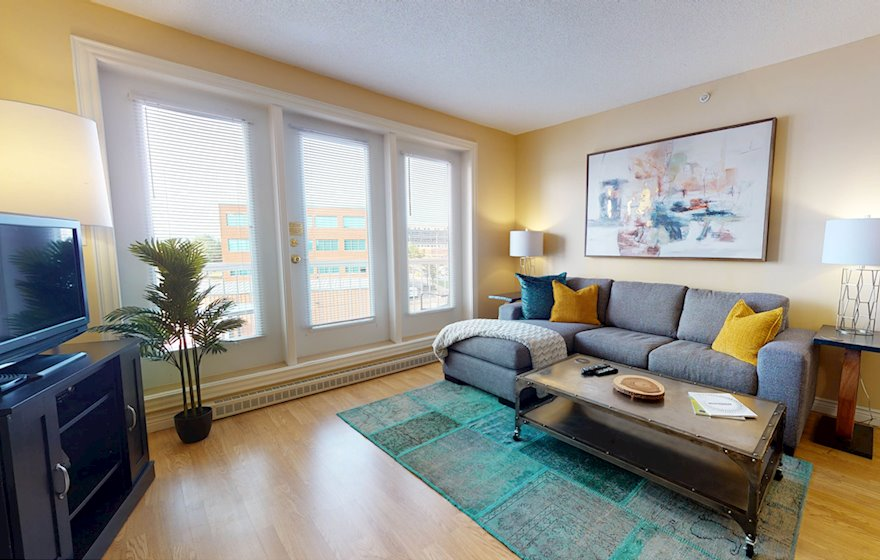 Living Room Free WiFi Fully Furnished Apartment Waterview Suite Moncton NB