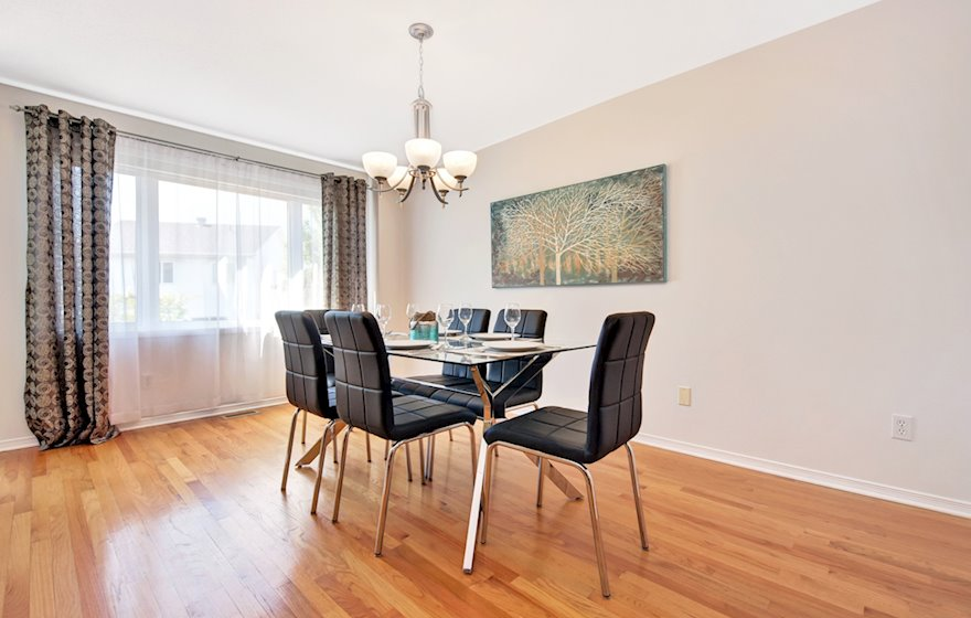 Dining Room Fully Furnished Apartment Suite Kanata
