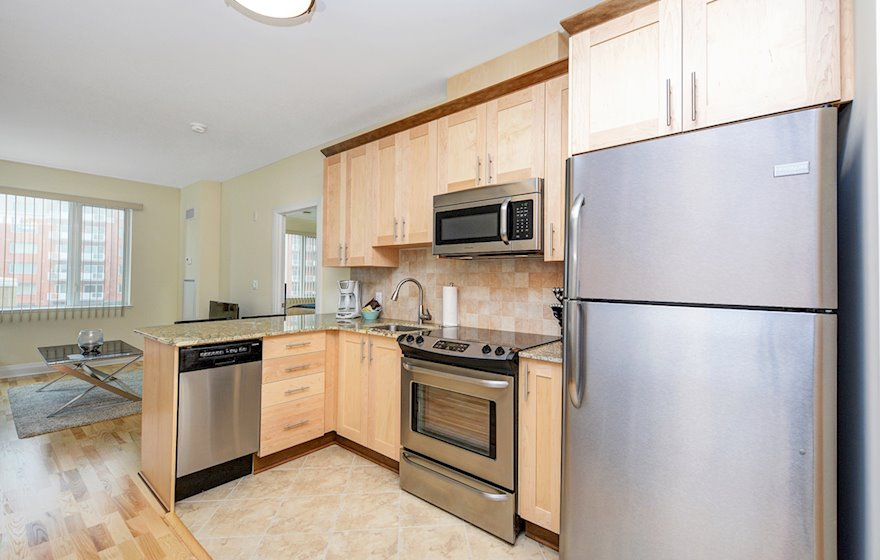 Kitchen Fully Equipped Five Appliances Stainless Steel Kanata