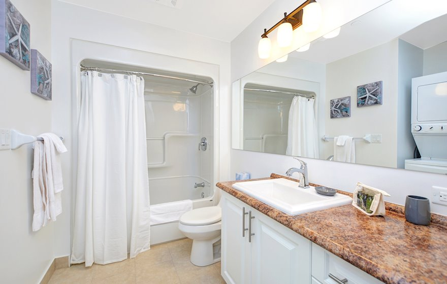 Master Bathroom Soaker Tub Fully Furnished Apartment Suite Kanata