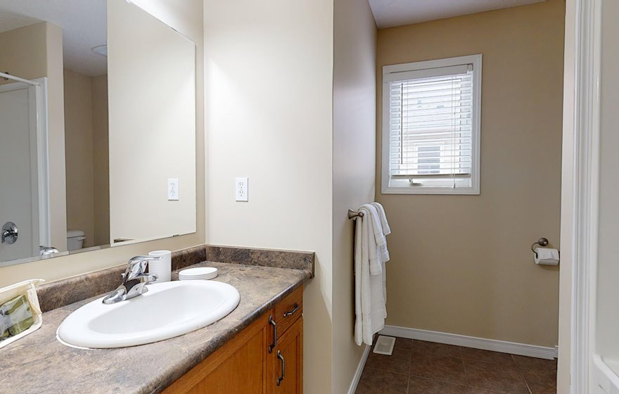 Bathroom 3 Piece Fully Furnished Apartment Suite Kitchener