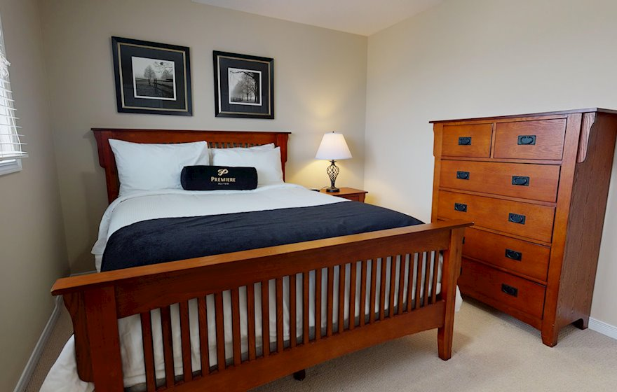 Second Bedroom Queen Mattress Fully Furnished Apartment Suite Kitchener