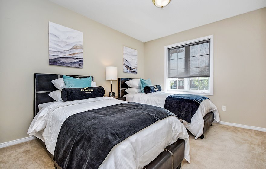 Third Bedroom Twin Mattresses Fully Furnished Apartment Suite Kanata