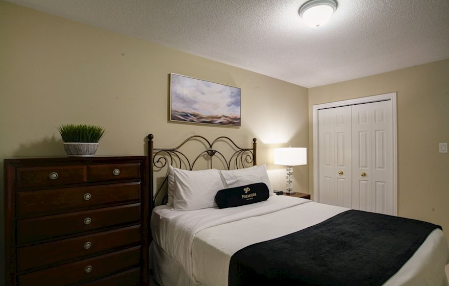 Third Bedroom Queen Mattress Fully Furnished Apartment Suite Oakville
