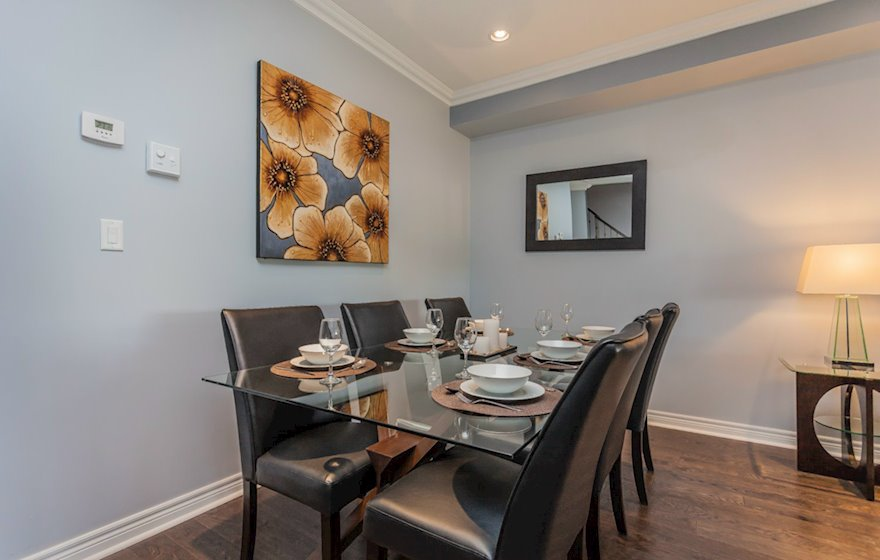Dining Room Fully Furnished Apartment Suite Markham