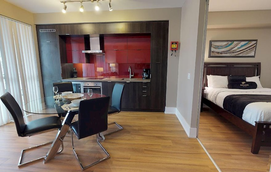 Dining Room Fully Furnished Apartment Suite Toronto