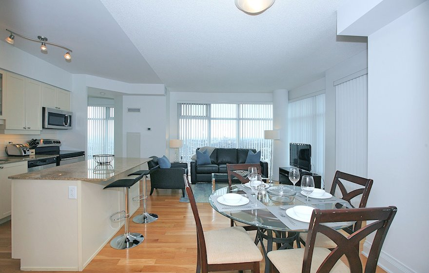 3508-Dining Room Fully Furnished Apartment Suite Midtown Toronto