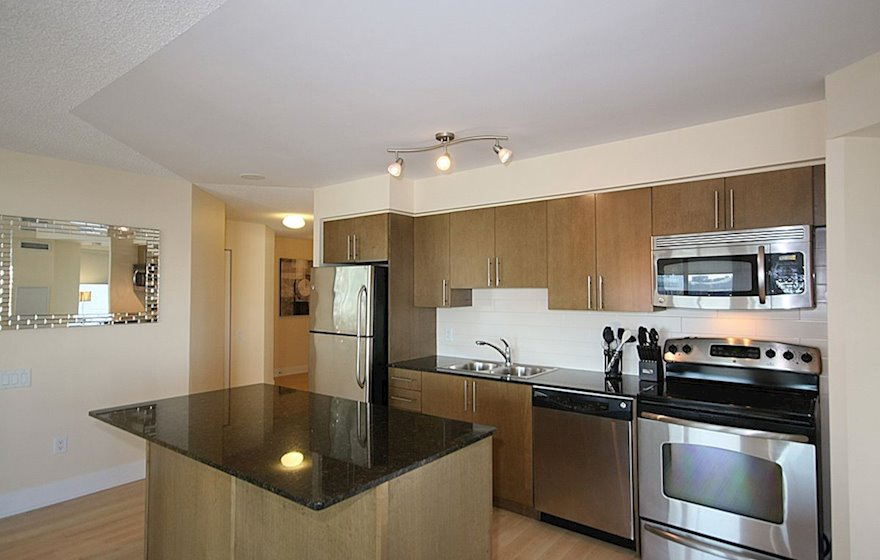 1602-Kitchen Fully Equipped Five Appliances Stainless Steel Midtown Toronto