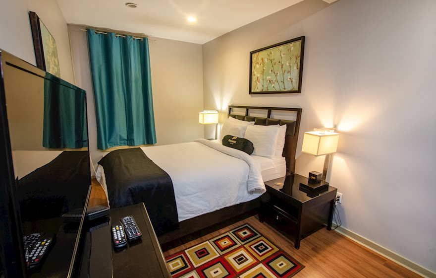 Bedroom Queen Bed Fully Furnished Apartment Suite St. John's NL