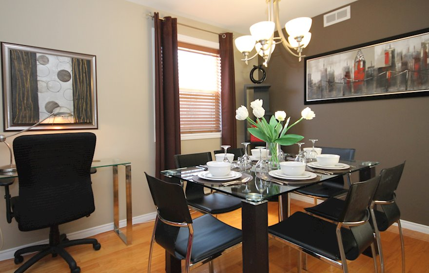 Dining Room Fully Furnished Apartment 42 LeMarchant Road St. John's NL