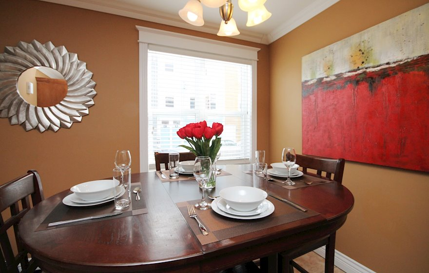 Dining Room Fully Furnished Apartment Bond Street Townhouse St. John's, NL