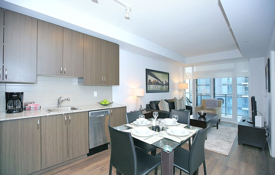 Dining/Living Room Fully Furnished Apartment Suite North York