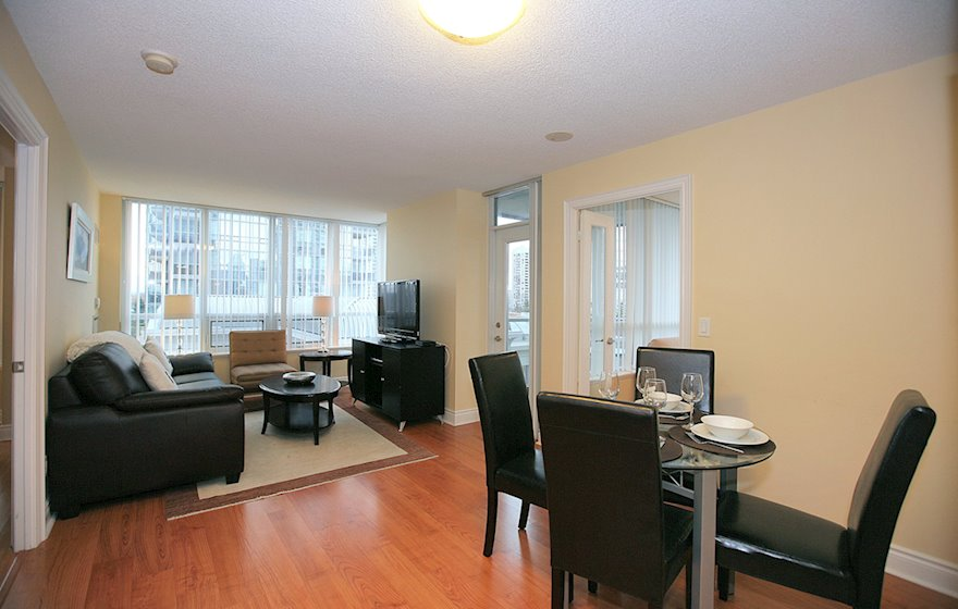 Living / Dining Room Fully Furnished Apartment Suite North York
