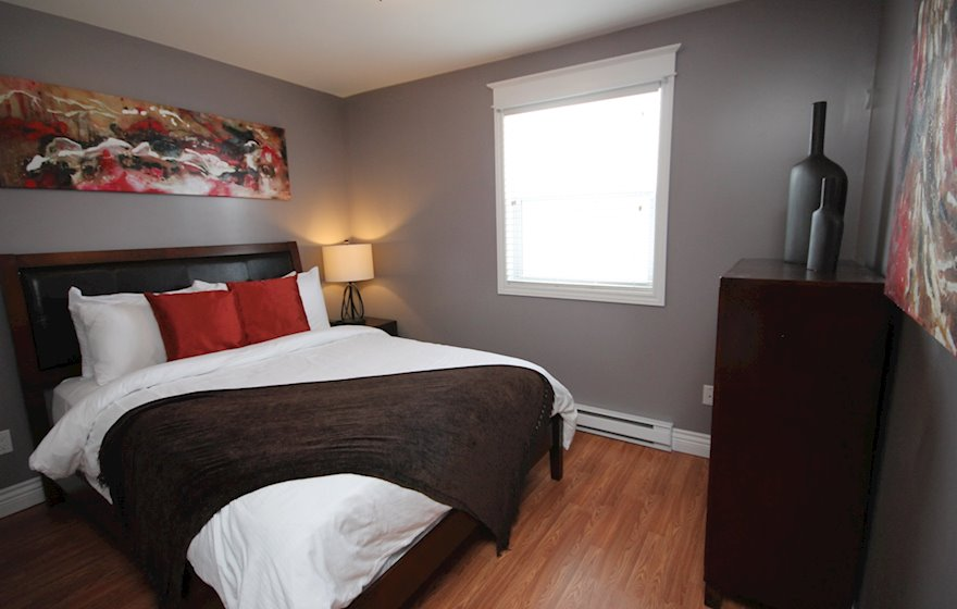 Master Bedroom Fully Furnished Apartment Suite, Bond Street Townhouse St. John's, NL
