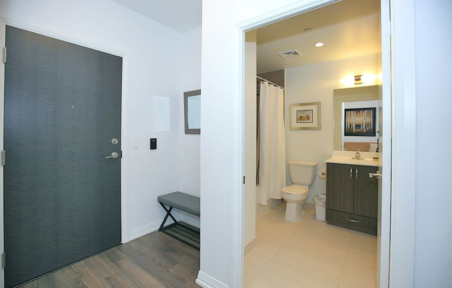Second Bathroom 3 Piece Fully Furnished Apartment Suite North York